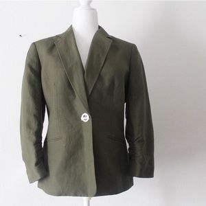 Coming 1/1/20 Anne Klein Green Linen Blazer Jacket